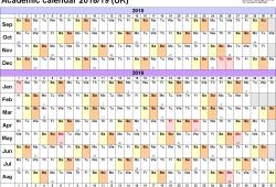 Academic Calendar 2018 15 Uk