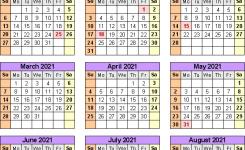 Academic Calendars 20202021 Free Printable Pdf Templates