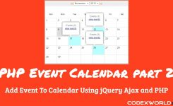 Add Event To Calendar Using Jquery Ajax And Php Youtube