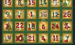 Advent Calendar Stock Illustration Illustration Of Numbers 33960058