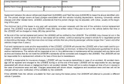Vehicle Lease Agreement Template Samples