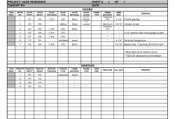 Framing Takeoff Spreadsheet
