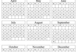 Printable Calendar 2019 Yearly