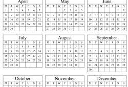 Free Printable Year Calendar 2019