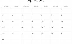 April 2018 Calendar Printable Free Site Provides Calendar