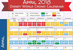 Disney Crowd Calendar April 2018