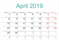 April 2018 Printable Calendar With Holidays