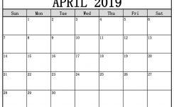 April 2019 Printable Calendar Free Templates Printable Calendar 2019