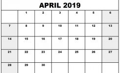 April 2019 Printable Calendar Printable Calendar Templates