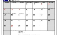 April 2020 Calendar