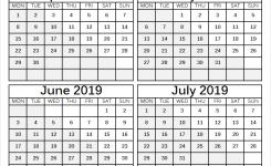 April July 2019 Blank Calendar Four Months Calendar