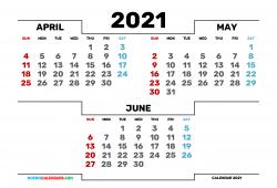 April May 2021 Calendar