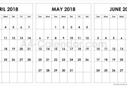 April May June Calendar