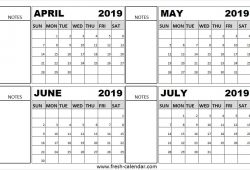 May June And July 2019 Calendar To Print