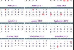 Argentina Calendar 2018