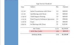 Attorney Billing Template Attorney Invoice Template Invoice Templat