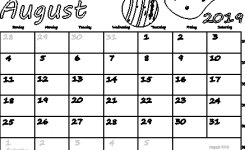 August 2019 Canada Calendar Free Printable Pdf