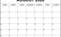 August 2020 Calendar 56 Templates Of 2020 Printable Calendars