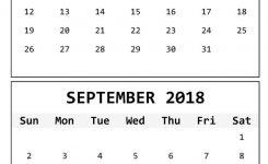August September 2018 Calendar Printable Larissanaestrada