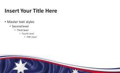 Australia Flag Powerpoint Template Presentationgo