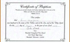 Baptism Certificate Template Publisher Download Christening