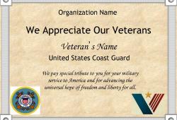 Military Appreciation Certificate Templates