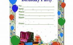 Birthday Party Invitation Card Template Lazine