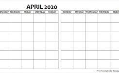 Blank April May 2020 Calendar Monday Start Archives Monday Start
