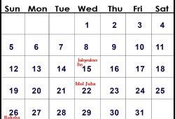 August 2018 Calendar Holidays 2