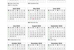 2018 Yearly Calendar Templates Printab