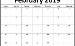 Blank Calendar February 2019 Printable February February2019