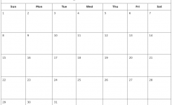 Blank Calendar July 2018 Booklet Template Printable Calendar