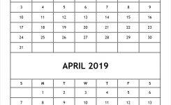 Blank Calendar March April 2019 Template 2 Month Calendar