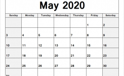 Blank Calendar May 2020 January December Calendar June 2019