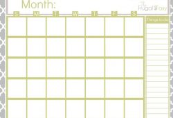Fill In Printable Calendar