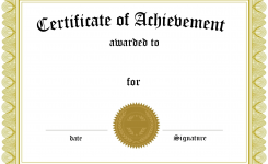 Blank Certificate Of Achievement Template Boatjeremyeatonco