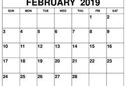 free printable february 2019 calendar