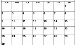 Jun 2019 Calendar
