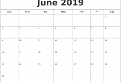 June 2019 Calendar With Holidays Printabe   Calendar Pdf Png