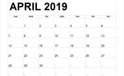 Blank March To May 2019 Calendar Printable March April May