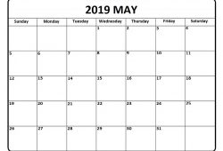 Calendar May 2019 Template
