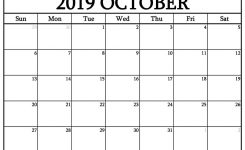 Blank October 2019 Calendar Templates Calenndar
