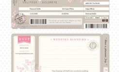 Boarding Pass Wedding Invitation Template Vector Image