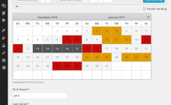 Booking Calendar Incepimagine Exco