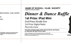 Bunch Ideas For Dinner Dance Ticket Template In Summary Wosing