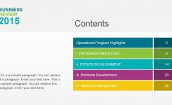Business Review Powerpoint Template Slidemodel