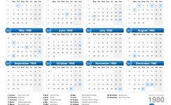 Calendar 1980