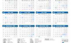 Calendar 1992