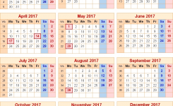 Calendar 2017 Uk With Bank Holidays Excelpdfword Templates