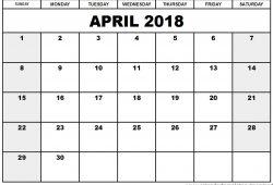 Free Printable Calendar Templates2018